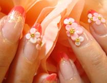 お花いっぱい♪ウキウキ気分♪<br>カルジェルグラデーション
